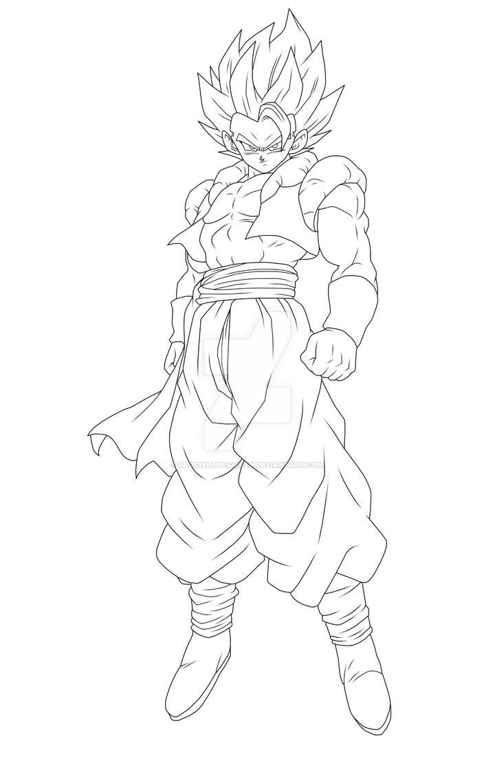 Gogeta Lineart By Brusselthesaiyan On Deviantart With Images