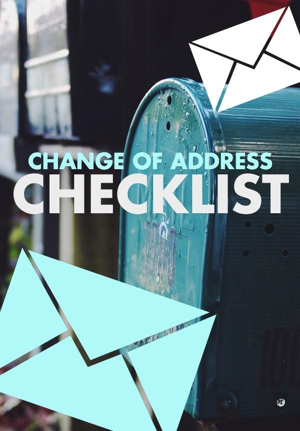 Use this checklist to ensure you remember to change your address everywhere.  Follow the timeline suggested as well to make sure the address is changed on time when moving | Planning For A Move