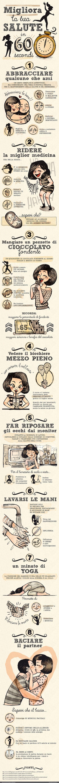 MIGLIORA LA TUA SALUTE IN 60 SECONDI -esseredonnaonline.it- illustrated by Alice…