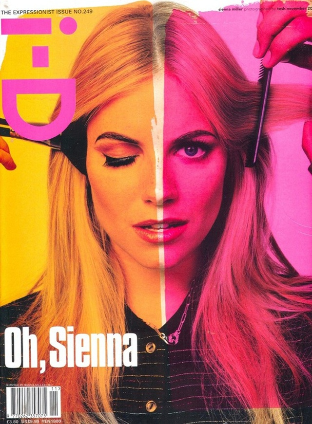 sienna miller on the cover of i d magazine n0 249 the expressionist issue magazines. Black Bedroom Furniture Sets. Home Design Ideas