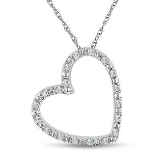 140 best my favorite bling images on pinterest diamond earrings crafted by miadora this lovely slanted white gold diamond heart necklace features an open design and a total gem weight of carat mozeypictures Choice Image