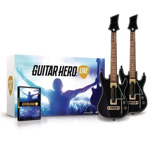Rock out with your friends in Guitar Hero® Live with the 2 Pack Bundle! <br>Bundle contains game software and 2 Guitar Hero Live wireless guitar controllers.