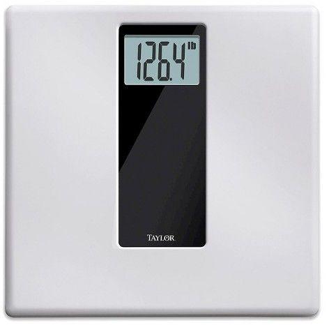 Taylor High Capacity Digital Scale White/Black