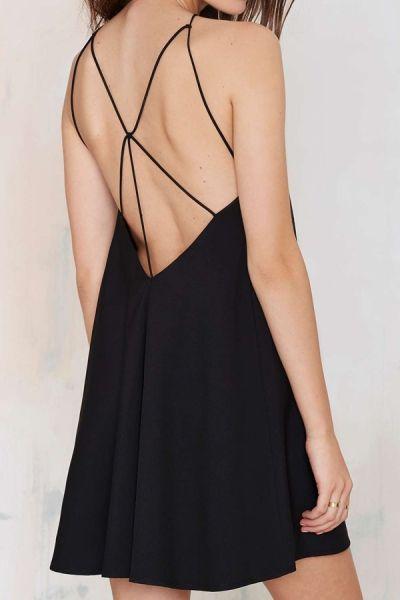 Black Spaghetti Strap Backless Dress BLACK: Summer Dresses | ZAFUL