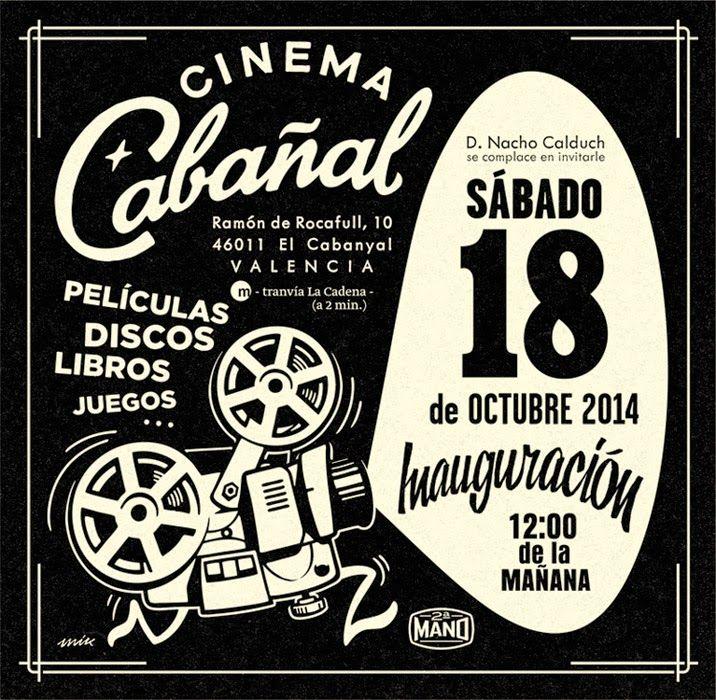 CINEMA CABAÑAL_logo/mascotas ilustración – rótulo, tarjetas, flyers