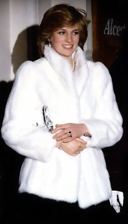 "March 8, 1982: Princess Diana at the charity premiere of ""The Little Foxes,"" starring Elizabeth Taylor, at the Victoria Palace Theatre in London"
