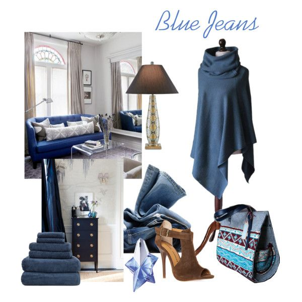 Blue Jeans by mdrozd on Polyvore featuring moda, Chinese Laundry, Thierry Mugler, H&M and Windsor Smith