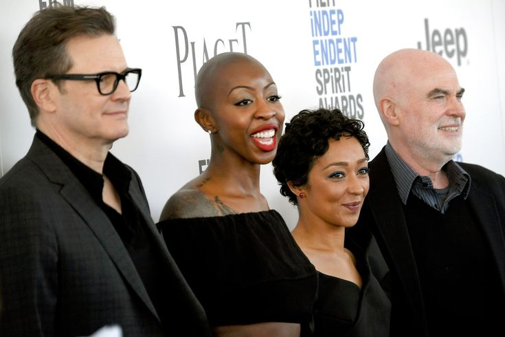 Colin Firth Photos - (L-R) Actor/producer Colin Firth, producer Oge Egbuonu, actor Ruth Negga and producer Ged Doherty attend the 2017 Film Independent Spirit Awards at the Santa Monica Pier on February 25, 2017 in Santa Monica, California. - 2017 Film Independent Spirit Awards - Arrivals