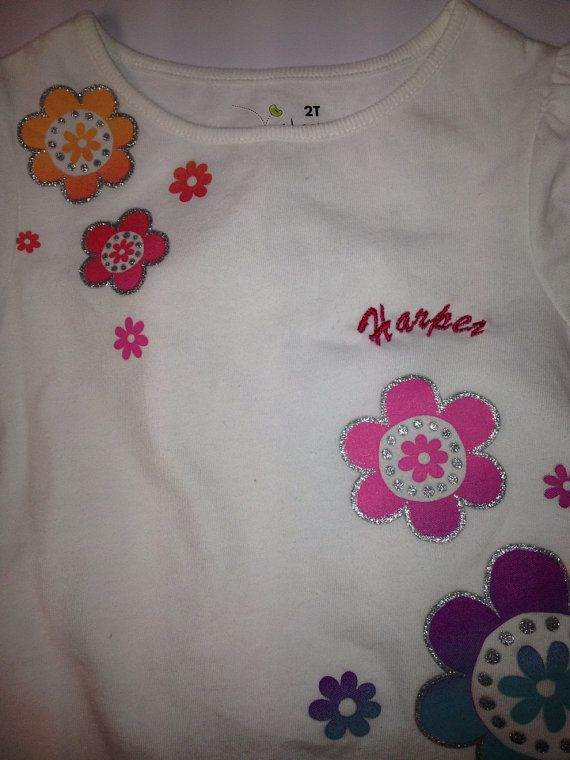 Little Girls sublimated tee. Monogramed