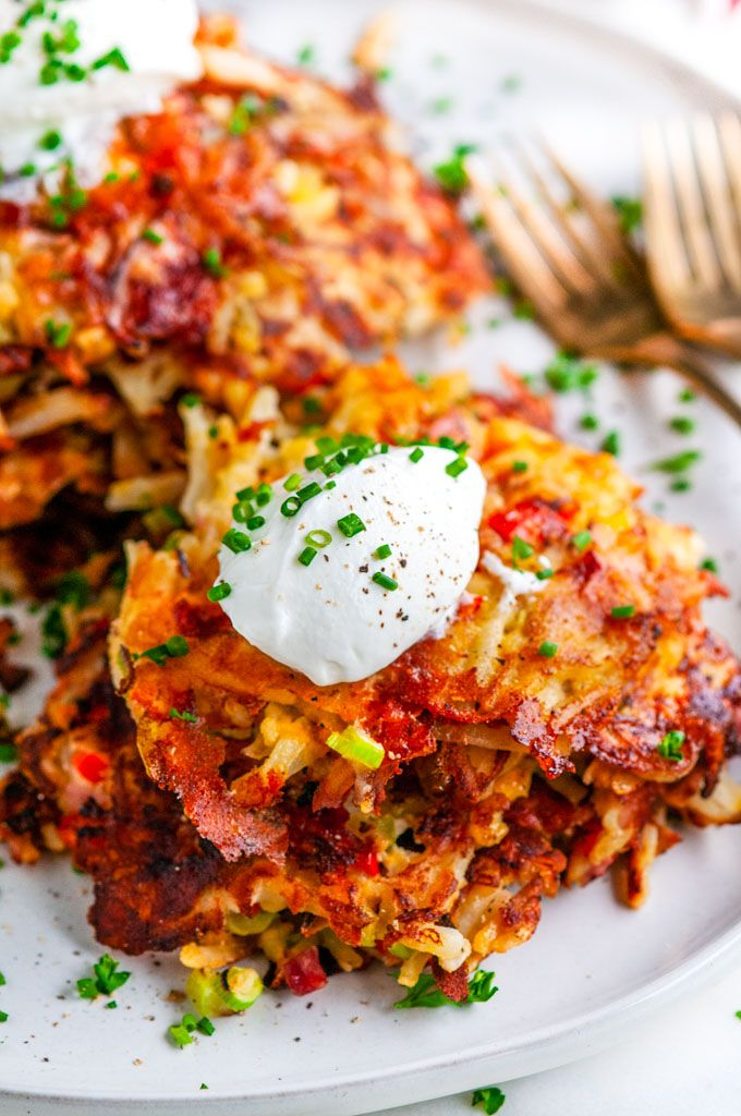 Cheesy Egg And Ham Hash Browns Recipe Stuffed Peppers
