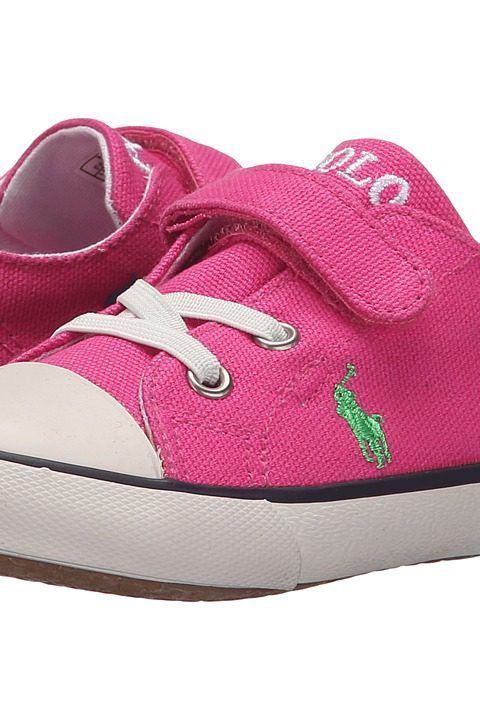 Polo Ralph Lauren Kids Kody (Toddler) (Active Pink Canvas/Multi) Girl's Shoes - Polo Ralph Lauren Kids, Kody (Toddler), 992634T-669, Footwear Closed General, Closed Footwear, Closed Footwear, Footwear, Shoes, Gift, - Street Fashion And Style Ideas