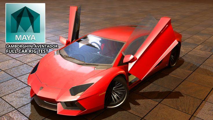 Autodesk Maya 2015 Lamborghini Aventador Full Car Rig (Free 3D Model Dow...