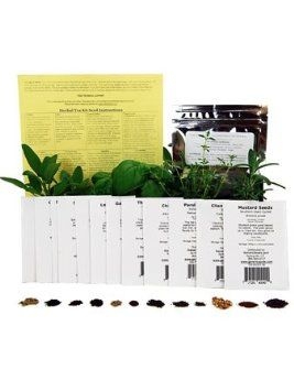 Assortment of 12 Culinary Herb Seeds - Grow Cooking Herbs- Parsley, Thyme, Cilantro, Basil, Dill, Oregano, Sage, More