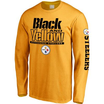 Men's Pittsburgh Steelers NFL Pro Line Gold Hometown Collection Long Sleeve T-Shirt
