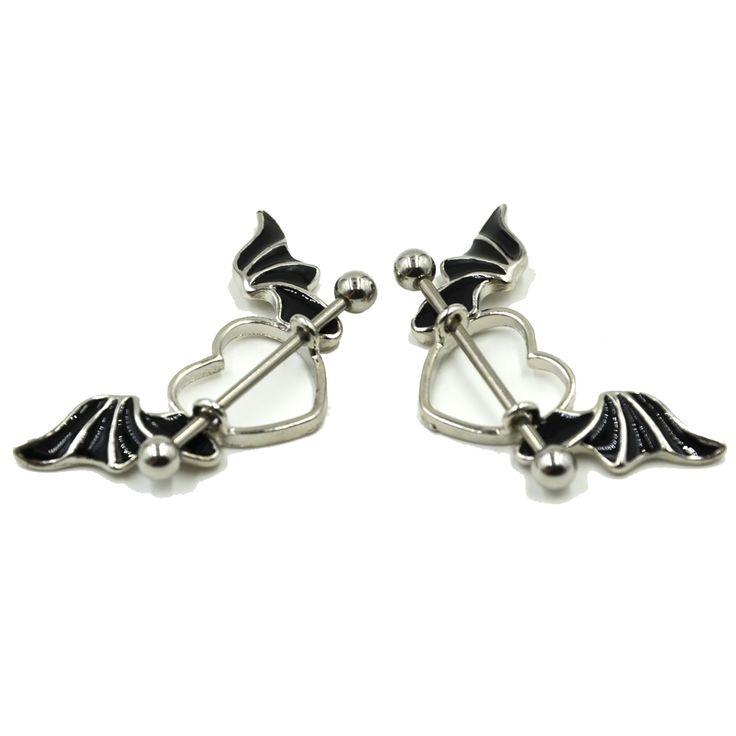 Best 25 nipple rings ideas on pinterest body jewelry for Angel wings nipple piercing jewelry