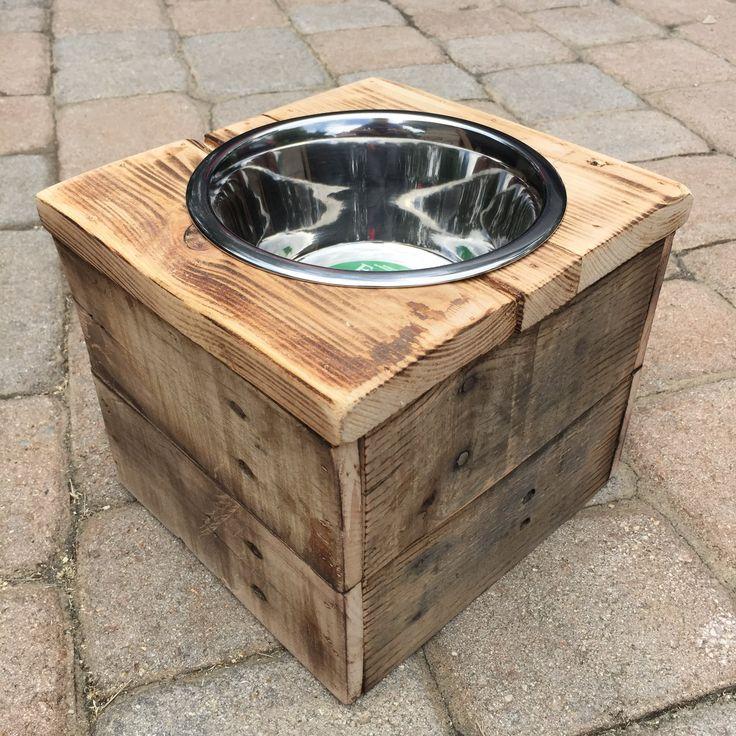 single large elevated dog dish large feeding stand dog dish