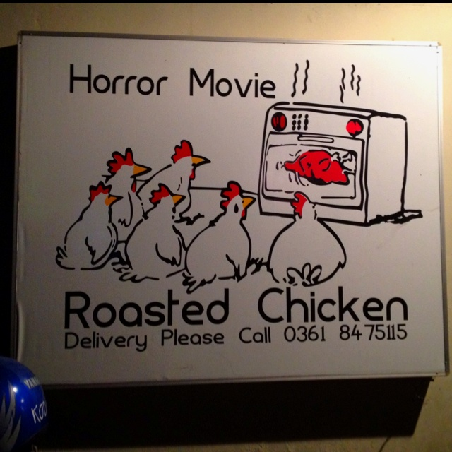 The stuff chickens' nightmares are made of