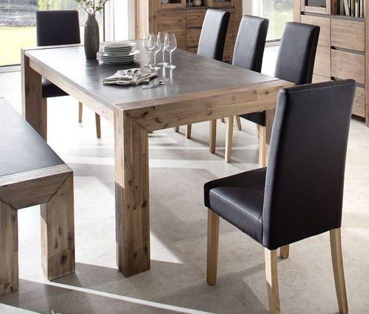 Esstisch Küchentisch Tisch In New Smoke/Beton Teilmassin Modern Woody  188 00015 Akazie Jetzt Bestellen Unter: Https://moebel.ladendirekt.de/kueche Und   ...