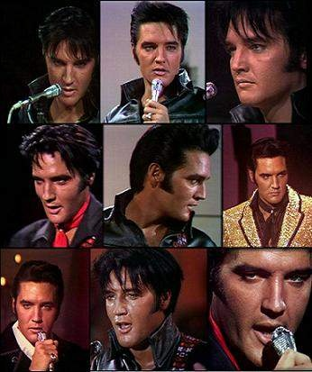 Elvis:1968 Comeback Special Collage. Can remember being 6 yrs old and watching this on TV.
