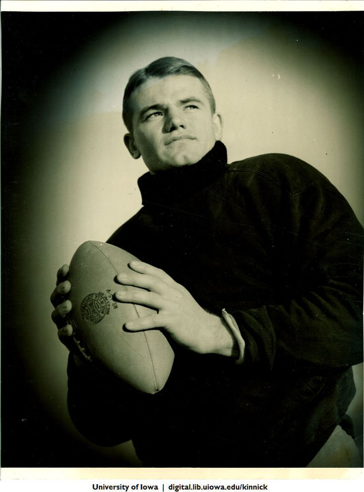 Nile Clarke Kinnick, Jr. was a student and a college football player at the University of Iowa. He won the 1939 Heisman Trophy and was a consensus All-American. He died during a training flight while serving as a U.S Navy aviator in World War II.    The Nile Kinnick Papers from the Unviersity of Iowa are now online in the Iowa Digital Library.    http://digital.lib.uiowa.edu/kinnick/    Here's a documentary:  http://www.youtube.com/watch?v=Hg-taYNIjjo