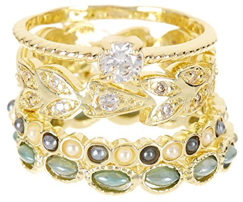 4 PCS CZ Wholesale Gemstone Jewelry Stackable Ring Set $16.67 Per Set Sold In 2 Set Per Size Pack  CZ Wholesale Gemstone Jewelry Stackable Ring Set