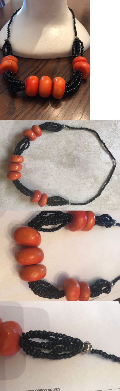 Necklaces and Pendants 98481: Very Cute African Moroccan Berber Necklace With Amber Resin Beads New -> BUY IT NOW ONLY: $35.99 on eBay!