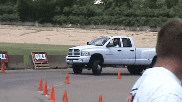 Gaze Upon The Majesty Of A Dodge Ram Dually Autocrossing