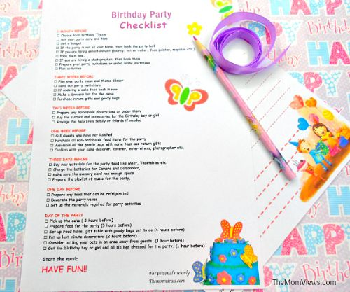 The  Best Birthday Party Checklist Ideas On   Baby
