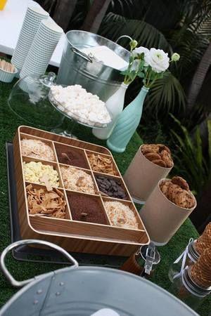 Ice cream buffet toppings