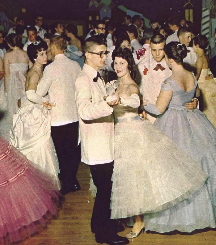 """""""At the Collinsville High School Senior Prom with Roseann - 1959"""""""