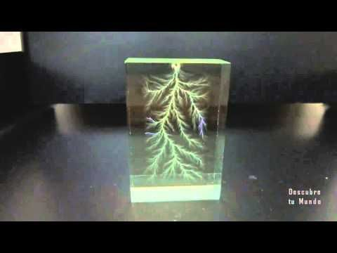 Lightning get trapped  in glass box forever - Rayo atrapado en cristal (experiment) - YouTube