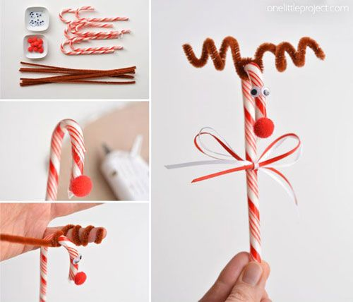 Best 25 candy cane reindeer ideas on pinterest candy for Easy candy cane crafts