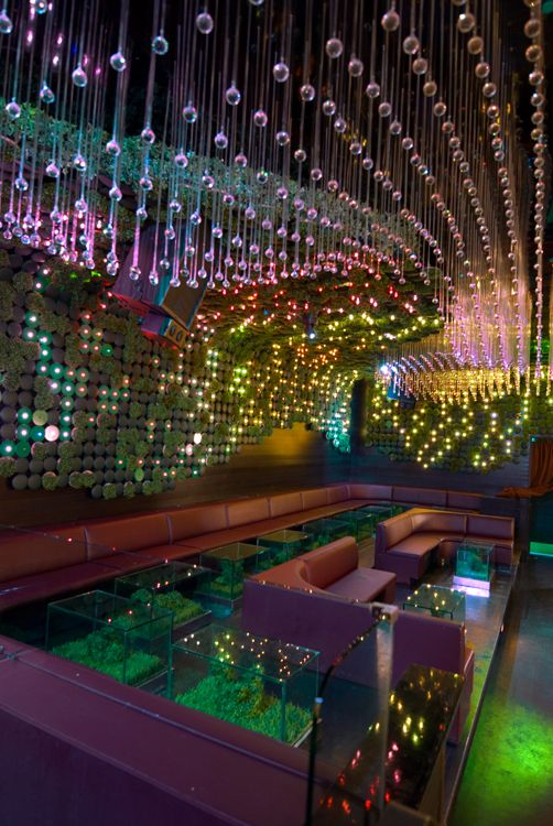 Greenhouse is a 4,000SF nightclub,lounge and event space built from recycled or recyclable materials, Greenhouseis the first nightclub in the nation to receive certification via LEED_CI bythe United States Green Buildings Council for its environmentally consciousconstruction and design.