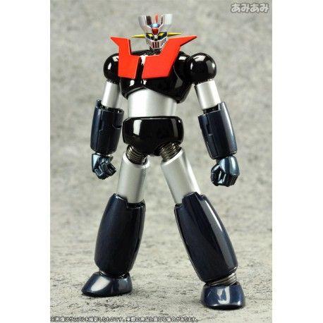 impresionante figura de mazinger z de acero con accesorios de super robot chogokin