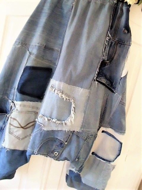 jeans patwork hippie haremshose rockabilly biker lagenlook boheme boy upcycling