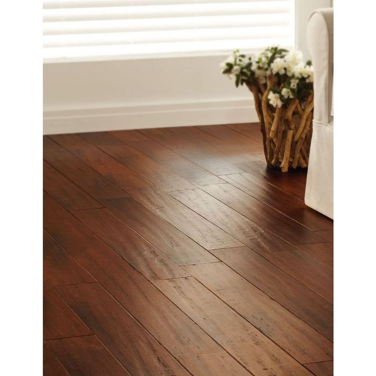 Engineered Strand Woven Bamboo Flooring: Home Decorators Collection Handscraped Strand Woven Brown