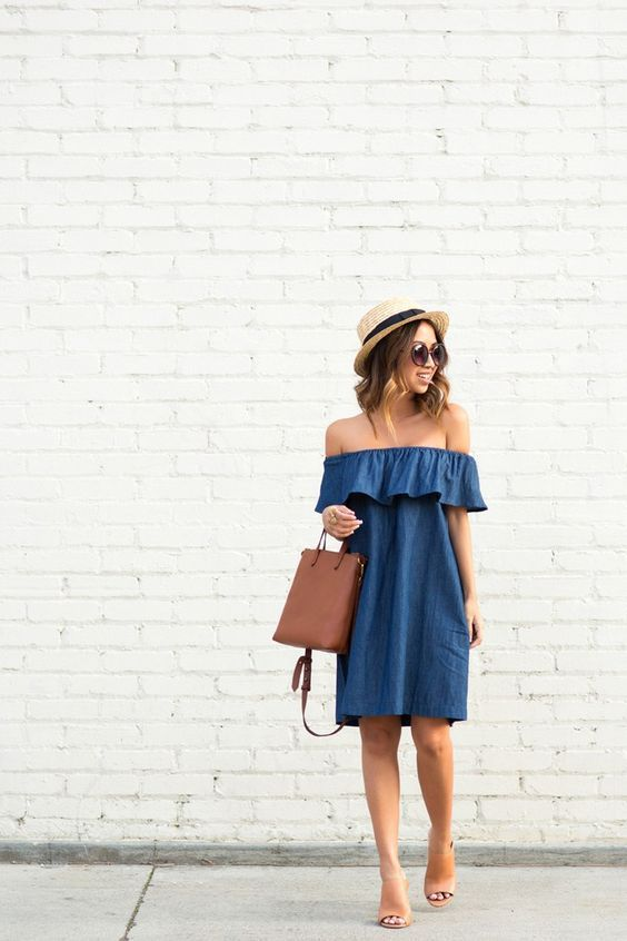 15 Denim Dresses for the Smart Casual Look!