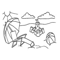 free beach themed coloring pages - photo#39