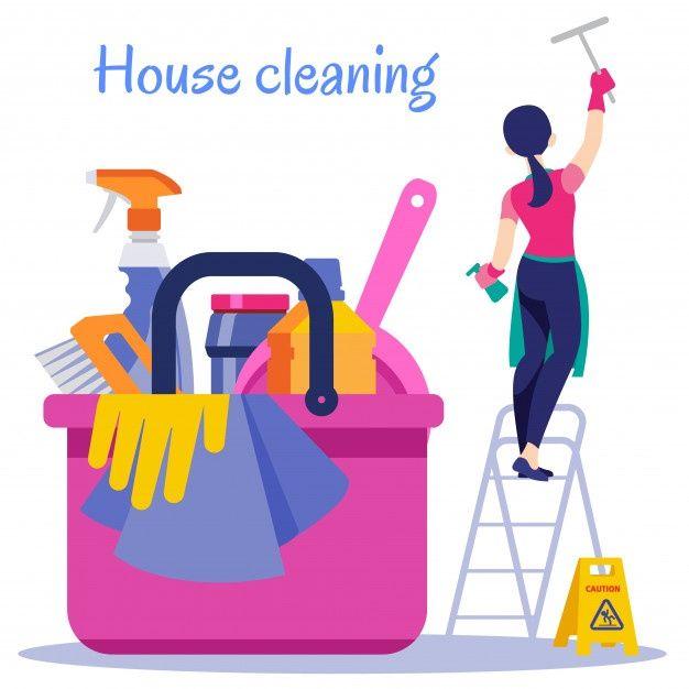 Limpieza De La Casa Servicio De Limpiez Premium Vector Freepik Vector Mujer Chica Cepillo T Limpieza De Primavera Negocio De Limpieza Limpieza Casa