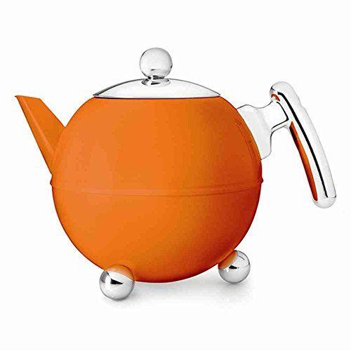 Teekanne 1,2L BELLA RONDE tangerine - http://geschirrkaufen.online/bredemeijer/teekanne-1-2l-bella-ronde-tangerine