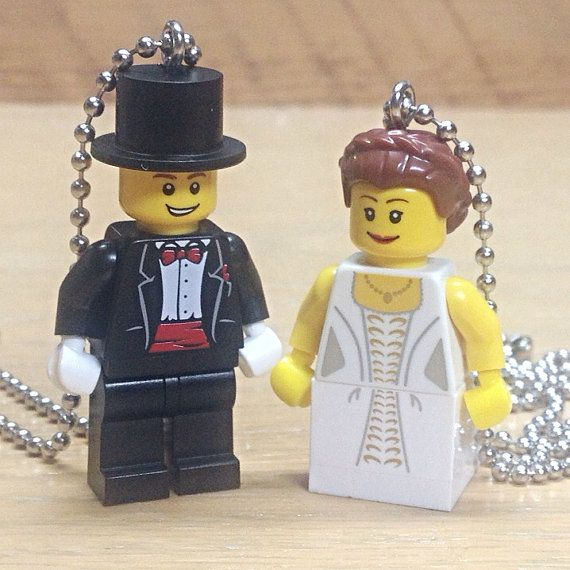 Lego Minifigure Bride and Groom  His and Her by creativityismessy, $30.00