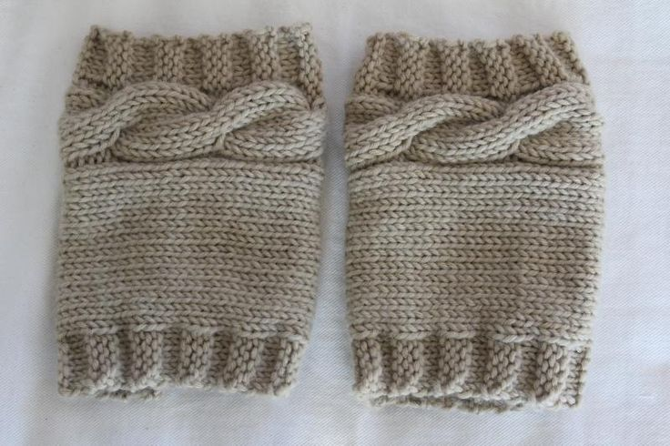 Free Boot Cuff Knit Pattern | Knitting: Cabled Boot Cuff