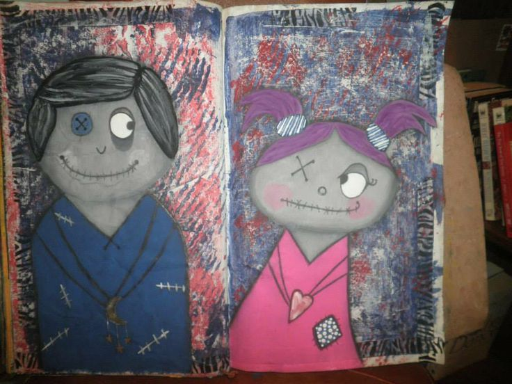 Art journal page, by Jackie Peniuk.