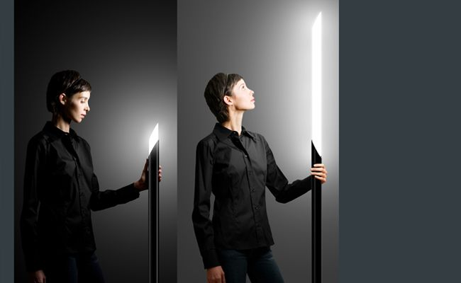 Twist is a floor lamp that allows you to control how much light you desire.