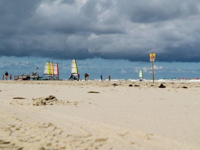 Blokarten op het strand van Terschelling