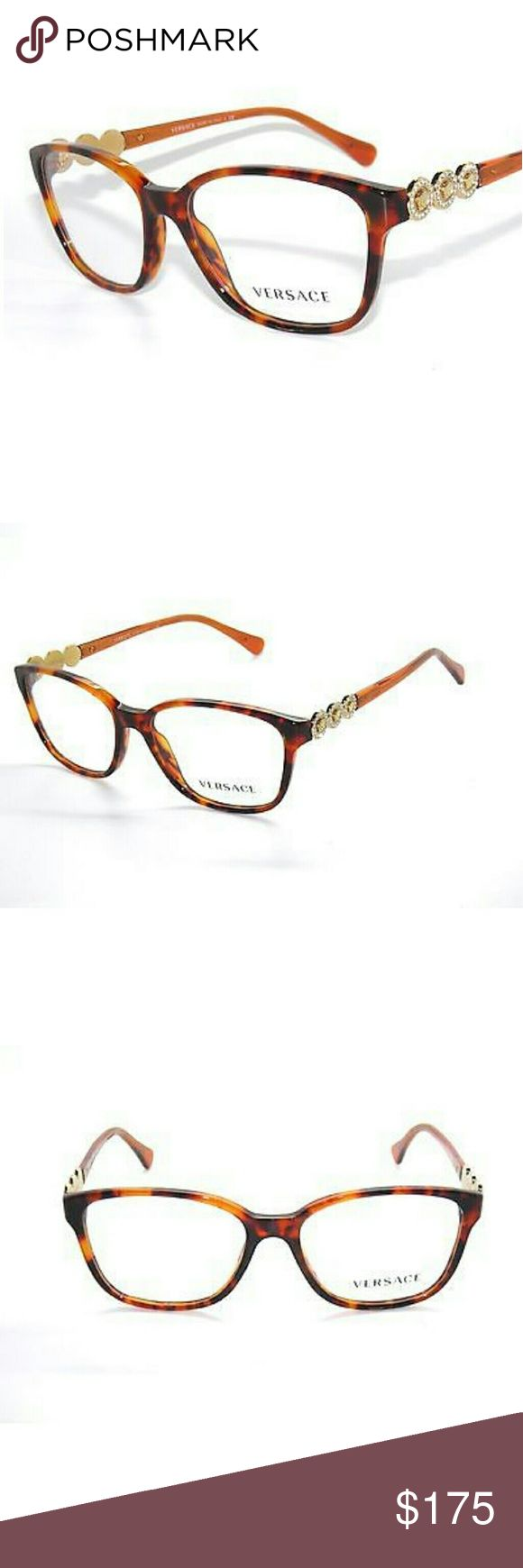 Versace Eyeglasses New and authentic  Versace Eyeglasses  Brown and gold frame  53mm Original case included Versace Accessories Glasses