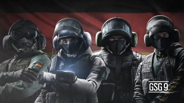Those of us who had a chance to play the Tom Clancy's Rainbow Six Siege beta might recognize these four faces as Jager, IQ, Blitz, and Bandit.