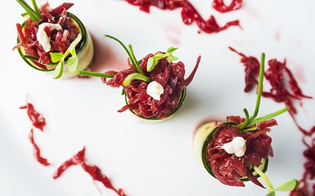 Sauerkraut Canapés – Yum! This delicious combination of some of our favourite Kehoe's Kitchen flavours make great starters at any BBQ > Follow the link for this super easy recipe :)