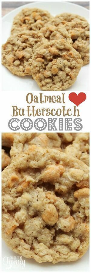 Oatmeal Butterscotch Cookies are slightly crisp on the outside & chewy on the inside. The butterscotch chips traditional oatmeal cookies to the next level! via @favfamilyrecipz