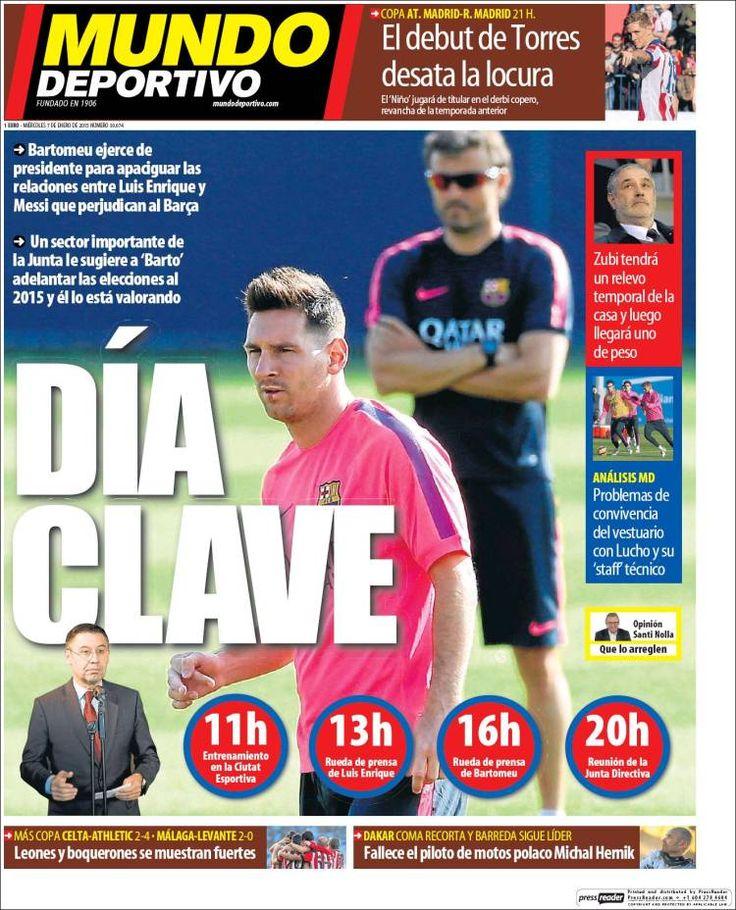 Portada Mundo Deportivo 7/1/2015
